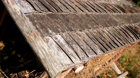 hayloft : Shed where they store their haystack and make sure that it doesnt get wet and shelter it from any types of weather. Wooden roof with cedar wooden shingle shake.