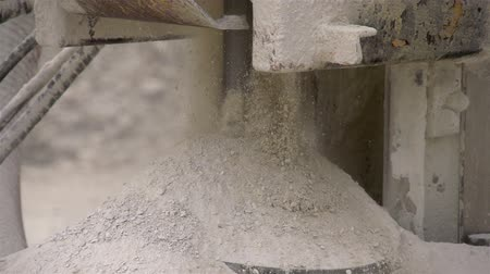 kazılmış : The fine dust from a rock drilling machine in a limestone industry