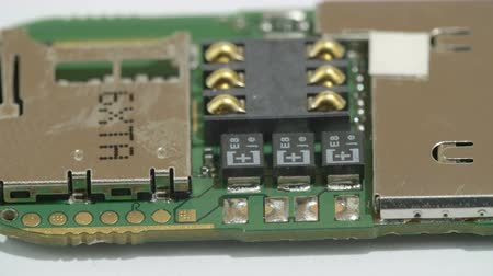 kgb : The details of the USB microchip with the micro boards wires and soldering plates on it