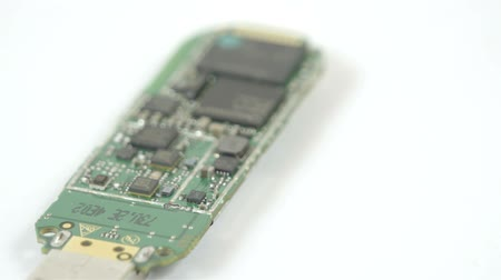 chipset : USB stick small chipset in a turn around view