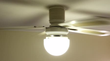 ventilátor : A typical household ceiling fan in motion.