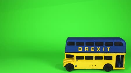 peoples : One of the famous parts of the Brexit vote was the bus that showed the £350 million on the side of it. Here is a spin off of that Brexit bus. Stock Footage
