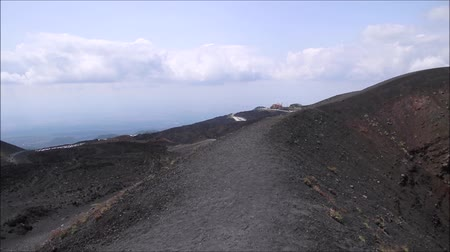 sycylia : Mount Etna is one of the Worlds most active volcanoes. Here it is seen covered, at the top. Its located in Sicily, Italy.