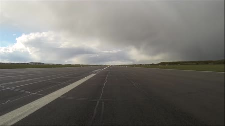takeoff area : A view of a taxiway at one of the UKs largest growing airports.