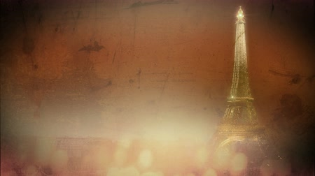 башни : Animated background of Paris. Стоковые видеозаписи