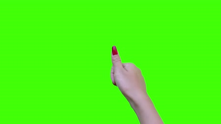 taça : thumb nail touch simulation with green screen