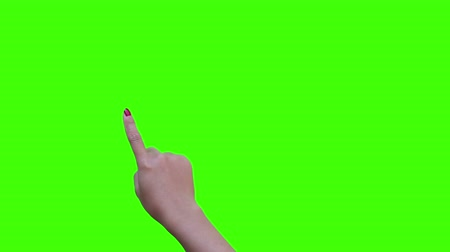 touching screen simulation with green screen