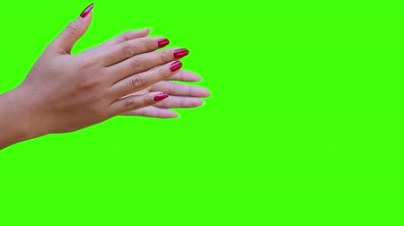 prêmio : hand applause with green screen Stock Footage