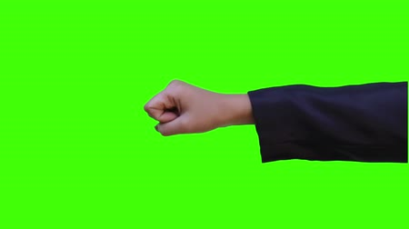 madness : hit hand simulation with green screen