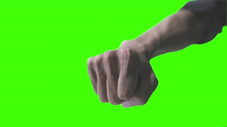 hit hand simulation with green screen