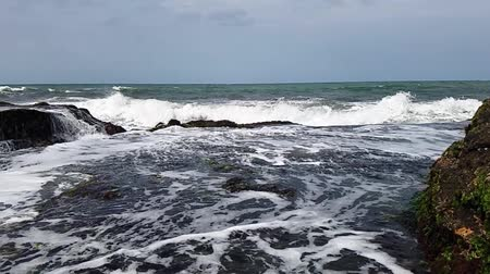 wave of ocean with slow motion