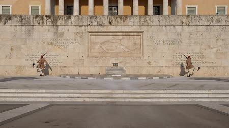 caqui : Ceremony of changing of Presidential guard Evzones by the Greek tomb of Unknown Solder, Athens, Greece