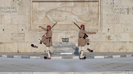 khaki : Ceremony of changing of Presidential guard Evzones by the Greek tomb of Unknown Solder, Athens, Greece