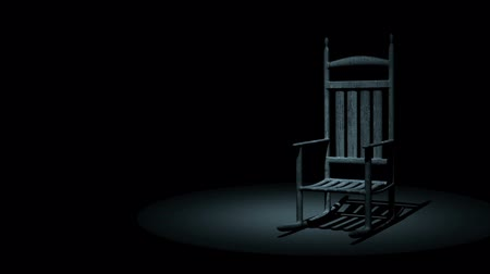 perili : Spooky Rocking Chair On Dark Background