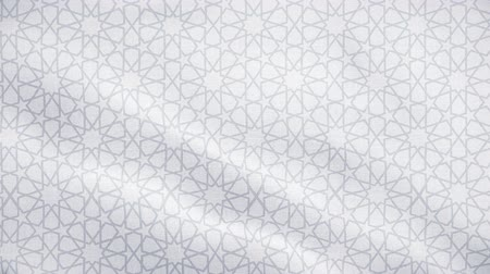 viktoriánus : Islamic pattern white waving background footage vdo Stock mozgókép