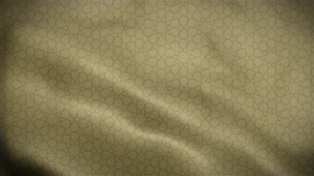 viktoriánus : Islamic pattern gold waving background footage vdo