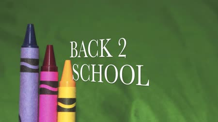 pré escolar : Its that time again. Welcome Back 2 School  Stock Footage