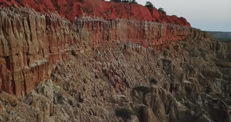 miradouro : Aerial view  rare geological phenomenon, cliffs of clayey clay with erosion, strange forms, locally called Miradouro da Lua, in Angola
