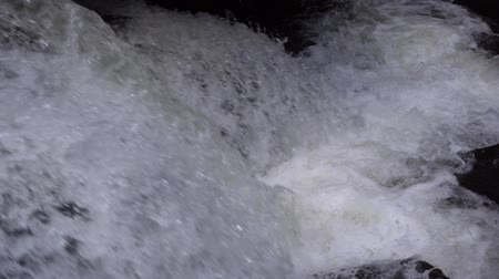 tripping : Close up view of ripple of waterfall, the most powerful waterfall , Slow motion, shot at 250 fps. Stock Footage