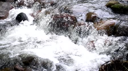 tripping : Close up view of splashing of water, the most powerful water, Slow motion.