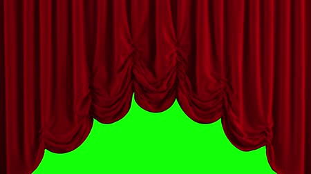veludo : Red Stage Curtain. High quality computer animation.