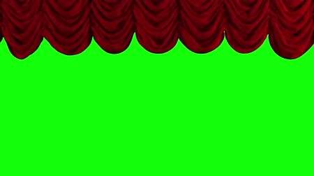 színpad : Red Stage Curtain. High quality computer animation.
