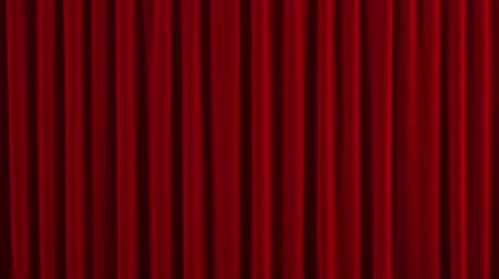 red tie : Red Stage Curtain. High quality computer animation.