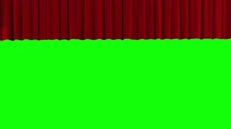perdeler : Red Stage Curtain. High quality computer animation.