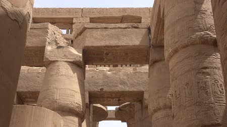 sarcophagus : Buildings and columns of ancient Egyptian megaliths. Ancient ruins of Egyptian buildings