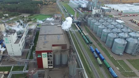Fat plant. Factory for processing fat and oil. Food industrial production. Wideo