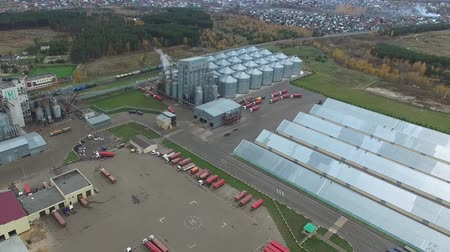 doldurmak : Fat plant. Factory for processing fat and oil. Food industrial production. Stok Video