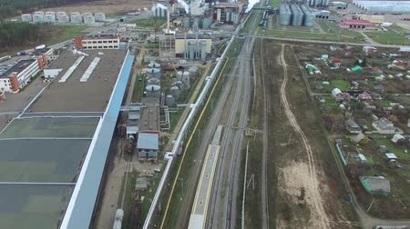 Fat plant. Factory for processing fat and oil. Food industrial production. Dostupné videozáznamy