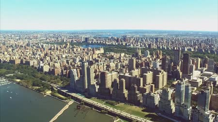 The city of New York is a birds-eye view. Skyscrapers of the city of New York. Dostupné videozáznamy
