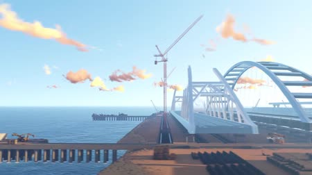 krím : Assemblage of the Crimean bridge, animation video. Approximate scheme for collecting the bridge.