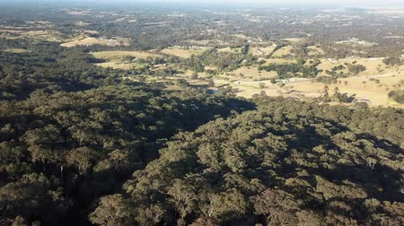 bushland : Aerial view over the rural farmland of Kurrajong panning towards Grose Vale Stock Footage