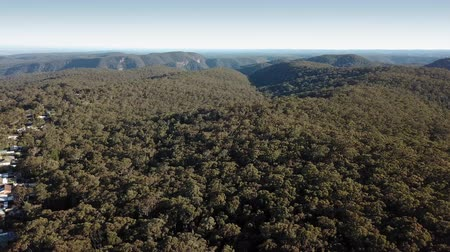 richmond park : Aerial scene passing Bowen Mountain towards the Grose River Valley on the Blue Mountains foothills.
