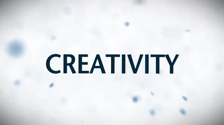creativity : Animated business related words.