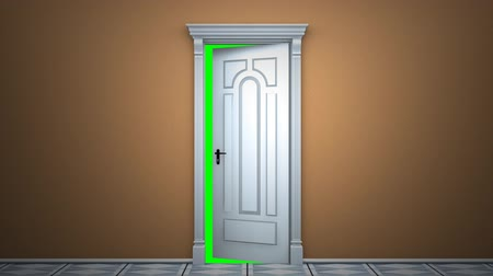 drzwi : Where a door magically opens to green key. Wideo