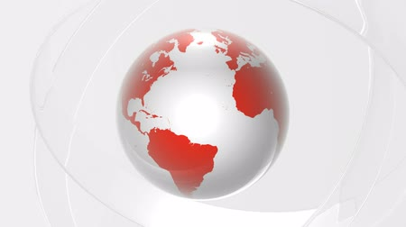red background : World under glass