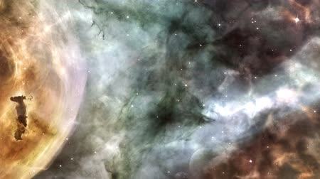 astronomia : Escena de la nebulosa Animated Archivo de Video