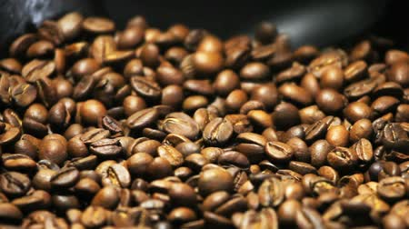coffee brewing : roasting coffee Stock Footage
