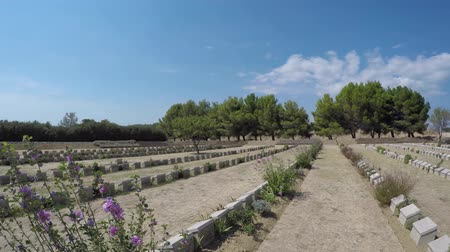 forget : CANAKKALE, TURKEY - SEP 9, 2016:Christian Military Cemetery of Seddulbahir in Gallipoli,Canakkale,Turkey.