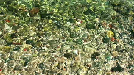 river ocean : Stones in the Sea Stock Footage