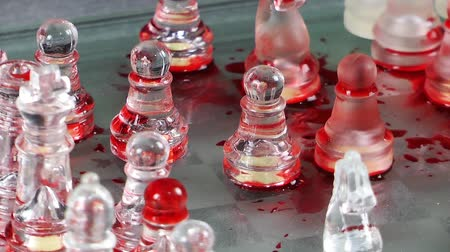 xadrez : Bloody Chess Game Made by Glass