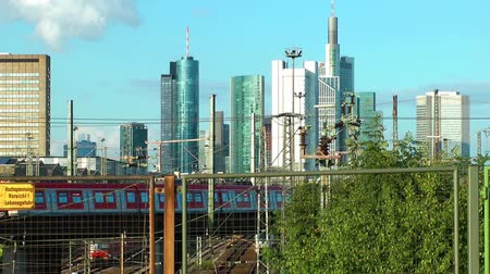 Франкфурт : Business Towers and Train In Frankfurt