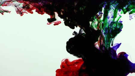 damla : Colorful Paint Ink Drops Splash in Underwater in Water Pool