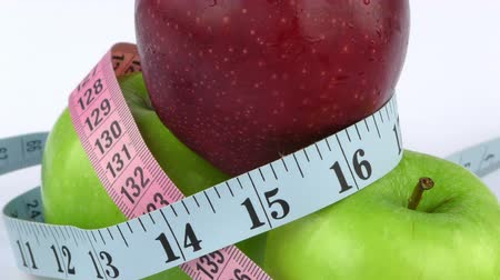 fogyás : Apple and Measurement Diet Fit Life Concept