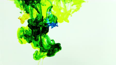sztuka : Abstract Ink Paint Art Blend Colorful Splash in Underwater Wideo
