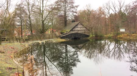 навес : Old Shed and Lake in Nature