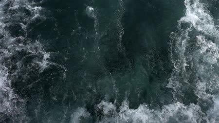 su üzerinde ufuk : Sea Water Waves Stok Video